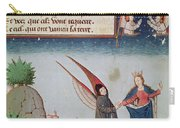 Lady Philosophy Leads Boethius In Flight Into The Sky On The Wings That She Has Given Him Carry-all Pouch