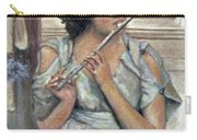 Lady Playing Flute Carry-all Pouch