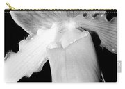 Lady Slipper Orchid Black And White Carry-all Pouch