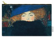 Lady With A Hat And A Feather Boa Carry-all Pouch