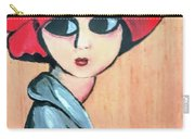 Lady With Red Hat Carry-all Pouch