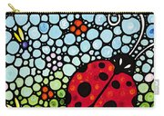 Ladybug Art - Joyous Ladies 2 - Sharon Cummings Carry-all Pouch by Sharon Cummings