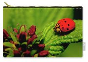 Ladybug Atop A Leaf Carry-all Pouch
