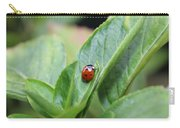 Ladybug On A Plant Leaf Carry-all Pouch
