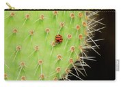 Ladybug On Cactus Carry-all Pouch