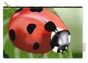 Ladybug On Leaf Carry-all Pouch