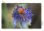 Ladybug On Purple Flower Carry-all Pouch