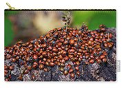 Ladybugs On Branch Carry-all Pouch by Garry Gay