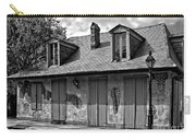 Lafittes Blacksmith Shop Bar In Black And White Carry-all Pouch