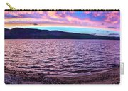Lake At Sunset Panoramic Carry-all Pouch