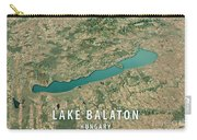 Lake Balaton 3d Render Satellite View Topographic Map Horizontal Carry-all Pouch