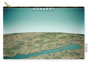 Lake Balaton 3d Render Satellite View Topographic Map Vertical Carry-all Pouch