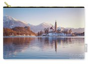 Lake Bled Winter Sunrise Carry-all Pouch
