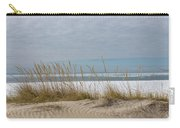 Lake Erie Ice Blanket With Sand Dunes And Dry Grass Carry-all Pouch