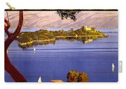 Lake Garda Vintage Poster Restored Carry-all Pouch