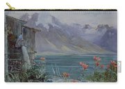 Lake Geneva Carry-all Pouch by John William Inchbold