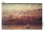 Lake Leman With Setting Sun Carry-all Pouch by Gustave Courbet