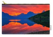 Lake Mcdonald Fiery Sunrise Carry-all Pouch