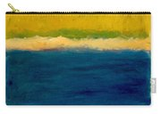 Lake Michigan Beach Abstracted Carry-all Pouch by Michelle Calkins