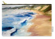 Lake Michigan Beach With Whitecaps Detail Carry-all Pouch