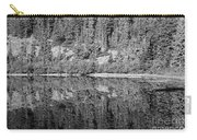 Lake Reflections In Black And White Carry-all Pouch