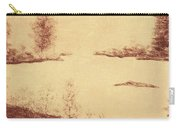 Lake Scene On Parchment Carry-all Pouch