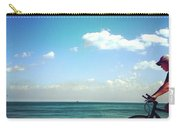 Lake Shore Bike, Blue Sky Water Horizon, Chicago Carry-all Pouch