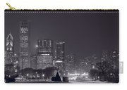 Lake Shore Drive Chicago B And W Carry-all Pouch