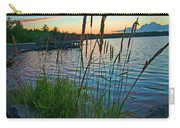 Lake Sunset And Sedge Grass Silhouettes, Pocono Mountains Carry-all Pouch