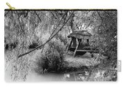 Lake Swing - Black And White Carry-all Pouch