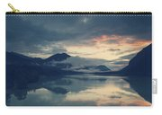 Lake Sylvenstein With Red Sky Carry-all Pouch