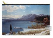 Lake Tahoe Carry-all Pouch by Albert Bierstadt