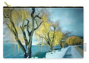 Lakeshore Walkway In Winter Carry-all Pouch