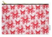 Lalabutterfly Red And White Carry-all Pouch
