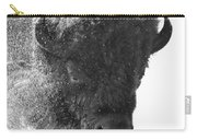 Lamar Valley Bison Black And White Carry-all Pouch