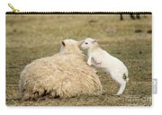 Lamb Jumping On Mom Carry-all Pouch