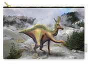 Lambeosarus Near Steam Vent Carry-all Pouch