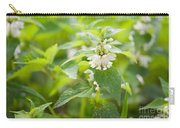 Lamium Album White Flowers Macro Carry-all Pouch