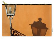 Lamp, Shadow And Burnt Umber Wall, Orvieto, Italy Carry-all Pouch