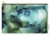 Land And Water Abstract Ink Painting Carry-all Pouch
