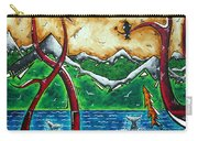 Land Of The Free Original Madart Painting Carry-all Pouch