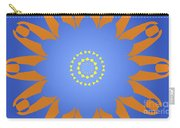 Landscape Abstract Blue, Orange And Yellow Star Carry-all Pouch