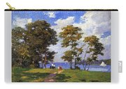 Landscape By The Shore Aka The Picnic Edward Henry Potthast Carry-all Pouch