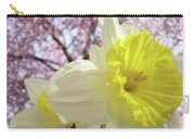 Landscape Daffodils Flowers Art Pink Tree Blossoms Spring Baslee Carry-all Pouch