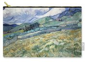 Landscape From Saint Remy At Wheat Fields  Van Gogh Series   By Vincent Van Gogh Carry-all Pouch