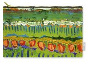Landscape In Green And Orange Carry-all Pouch