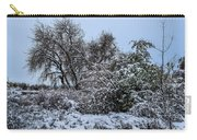 Landscape In The Snow Carry-all Pouch