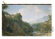 Landscape Of Ancient Greece Carry-all Pouch by Pierre Henri de Valenciennes