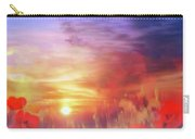 Landscape Of Dreaming Poppies Carry-all Pouch by Valerie Anne Kelly