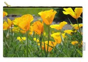 Landscape Poppy Flowers 5 Orange Poppies Hillside Meadow Art Carry-all Pouch